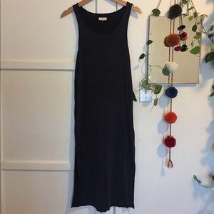 silence + noice Faded Midi Slit Dress